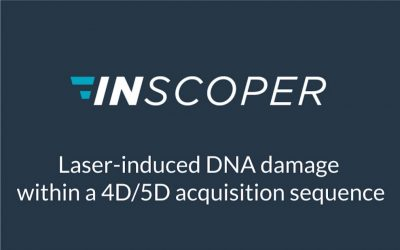 Laser-induced DNA damage within a 4D/5D acquisition sequence